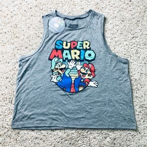Super Mario Crop Top | Tank Top | Muscle Tee